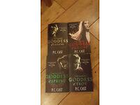 4 x P.C.CAST GODDESS PAPERBACK BOOKS