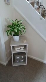 Two pretty hand made bedside/side table units
