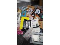Joblot of 247 Approx Brand New Mobile Phone Covers and Screen Protectors iPhone X, Samsung & More