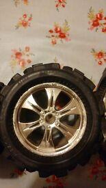 Big joe 6.39 x 4.25 6 spoke hpi wheels