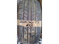 205-40-17 Zeta Ztr10 84W 4.5mm Part Worn Tyre