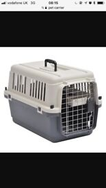 2 medium sized pet carriers immaculate condition used once for shipping
