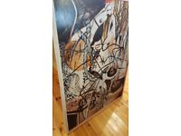 large abstract oil painting by Tom Sainsbury