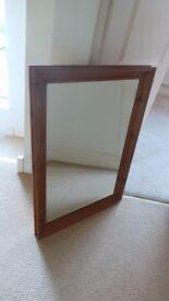 Solid pine rectangular mirror