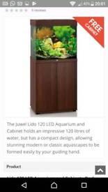 Fish tank combo 2doordark wood cabinet