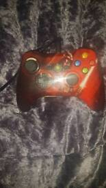 Xbox 360 starwars pad red . Wired