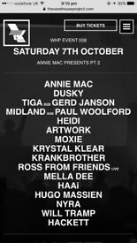 Wharehouse Project, annie Mac presents part 2 , 7th october