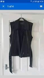 Mint velvet leather waiscoat