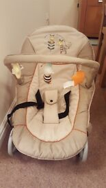 Hauck bouncy chair immaculate condition only used 3 times. Retails at £25