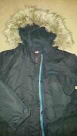 Regatta Girls Navy Parka/Coat 7-8