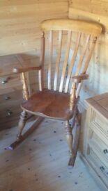 Oak rocking/nursing chair