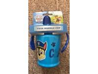 BNWT paw patrol twin handle cups