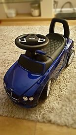 Childrens Bentley GT ride on toy baby walker push Along car