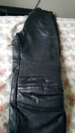 Leather trousers size 10