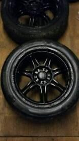 "Momo corse 17"" alloy wheels with Pirelli P7 tyres as new. 5x108 5/108 fitment volvo etc"