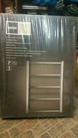 Marseille stainless steel towel radiator 740x530 ex homebase baragain