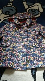 Girl flower print light weight jacket 3_4years