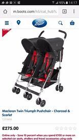 *Brand New In Box - Twin Maclaren Stroller