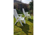 M&S garden chairs white