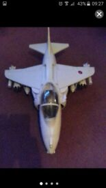 Hm armed forces action man and jet.