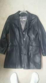 Black leather jacket. Excellent condition size 14