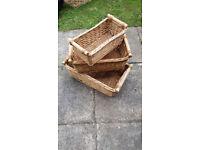 Set of 3 pandora style baskets