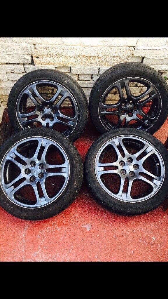 Subaru impreza wrx 17inch black alloys