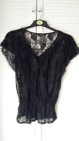 Black lace size 10 top