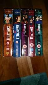 Smallville DVD's season 1-5.