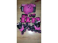 Girls NO FEAR Skates , helmet, elbow and knee pads