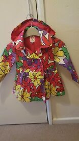 Stunning floral raincoat from John Lewis in excellent condition age 3 yrs