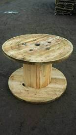 Cable drum reel spool table