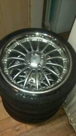 "17"" alloy wheels and tyres 4x100"