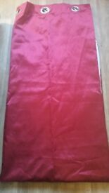 Red plain curtains 86x90l inches