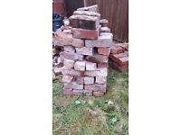 Reclaimed bricks from chimney breast Heat proof Bargain