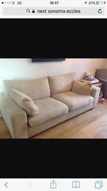 2x Next sonoma sofas