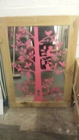 wall mirror for family tree pictures