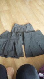 Girls aged 5-6 3 grey school skirts