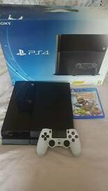 Pre-owned PS4 500GB Console with White Dualshock 4 Controller & 3 games