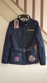Paul's Boutique Quilted Navy Bikers Jacket in Small. Limited Edition.Excellent condition.