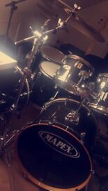 Mapex double bass drum kit all hardware and zildjen symbols