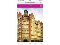 Double room at MALMAISON, Manchester Sunday 26 February