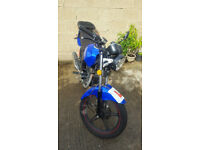 2015 Sinnis Max II 125cc Motorcycle Motorbike Blue 5 Speed Quick Sale