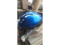 Blue colour helmet for boy bicycle