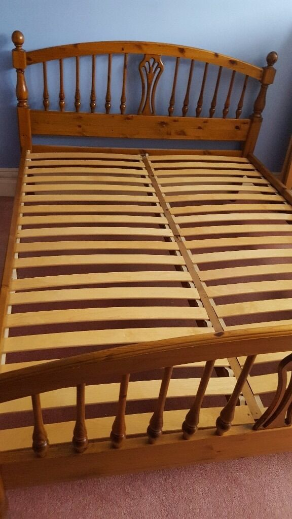 Ducal Antique Pine King Size Bed Frame 150 Ono