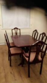 Dining table & chires