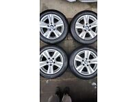 "BMW 16"" alloys both wheel and tyres great condition"
