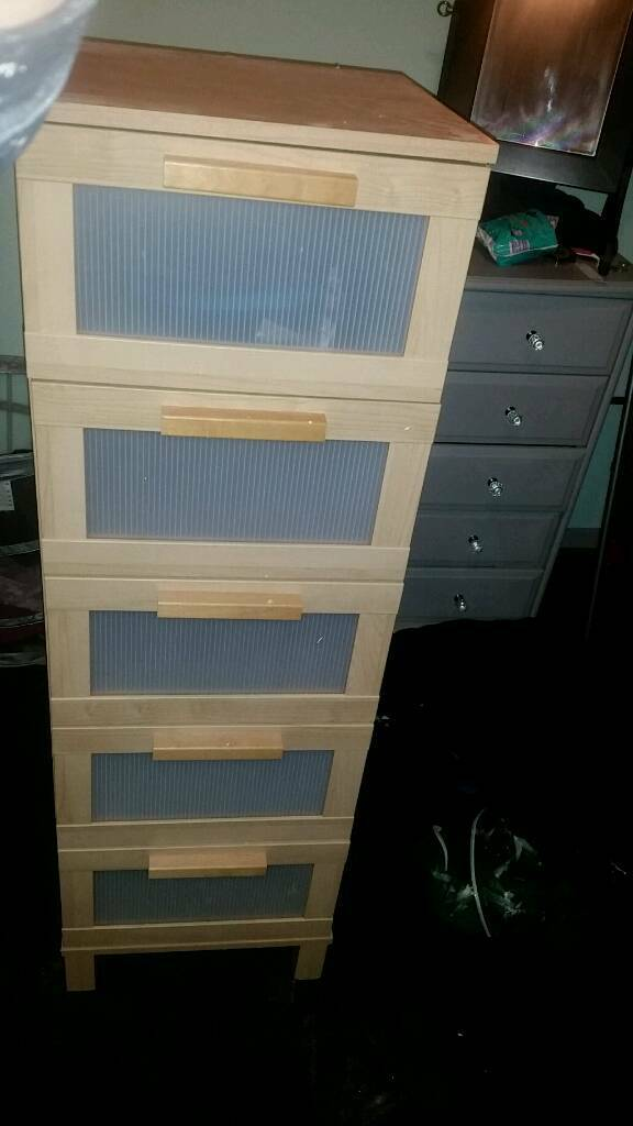 Ikea aneboda tall drawersin Bellshill, North LanarkshireGumtree - Light pine coloured tall drawers from the aneboda range at Ikea. These were in my spare room for a few years. Some signs of wear and tear on mdf and perspex on bottom drawersCollection from Bellshill. Need them gone ASAP