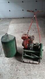 Vintage Suffolk petrol lawn mower