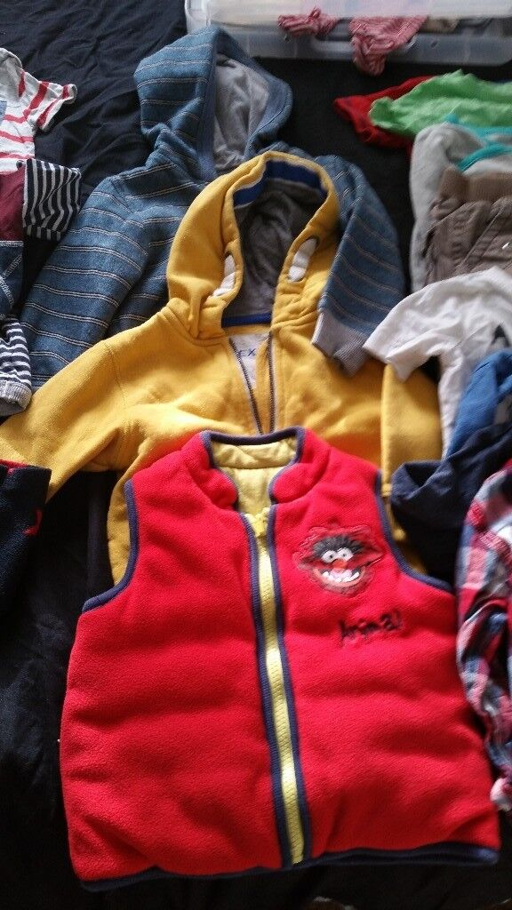 Selection of boys clothes 9-12 and 12-18 months